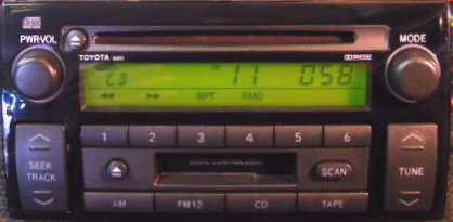 Camry 2002 2004 Cd Cassette Radio W Built In Amp