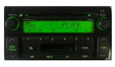 camry 2002 2004 cd cassette jbl radio ad6806 new. Black Bedroom Furniture Sets. Home Design Ideas
