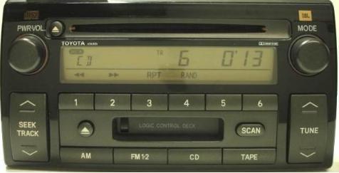 camry 2002 2004 cd cassette jbl radio ad6807 reman. Black Bedroom Furniture Sets. Home Design Ideas