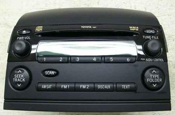 Sienna 2004-2010 CD6 MP3 WMA radio (w/ built-in amp) 11818 *blem