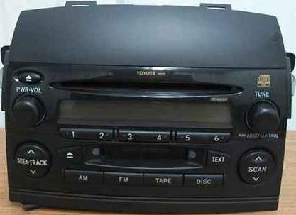 Sienna 2004-2007 CD Cassette radio 16839 16862 (built-in amp)